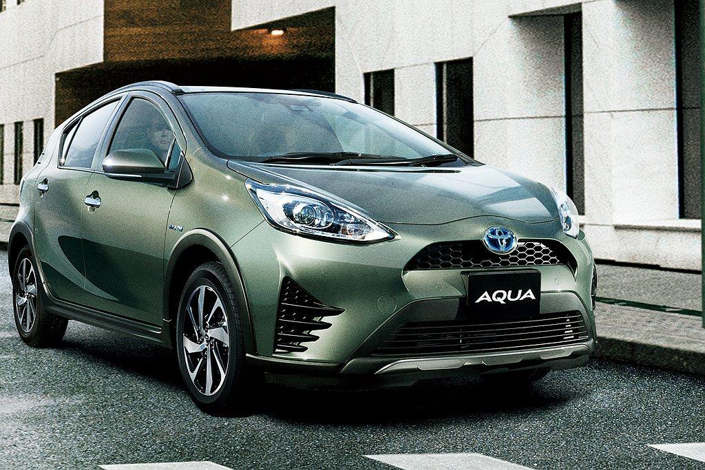 日規新年式Toyota Aqua(台灣市場稱Prius C),重點在於調整銷售陣...