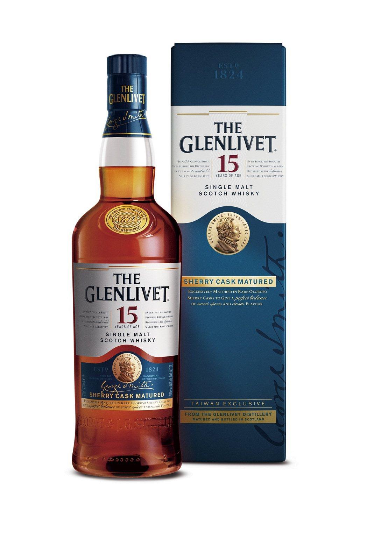 格蘭利威15年雪莉桶單一麥芽蘇格蘭威士忌,建議售價NT$1,680元。保樂力加/...