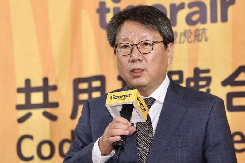 圖為韓國德威航空總裁鄭鴻根。記者林伯東/攝影