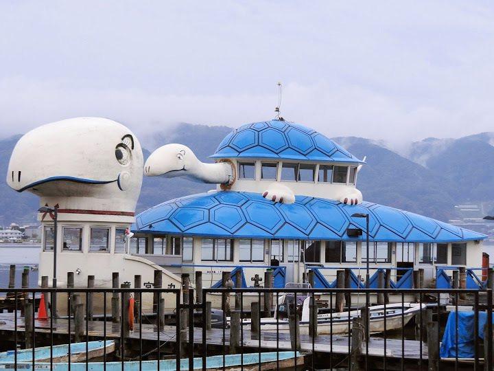 龜形「竜宮丸」遊船