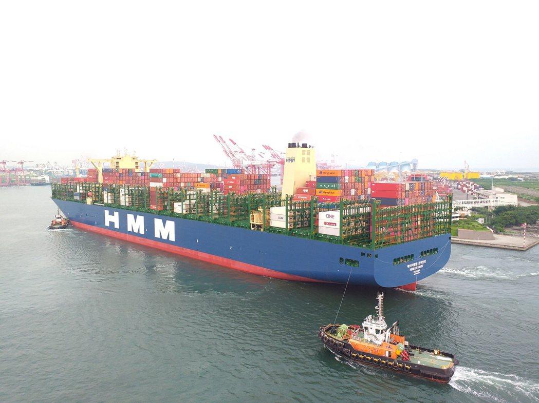 「韓遠利哈佛」貨櫃輪首航高雄港。圖/高港公司提供