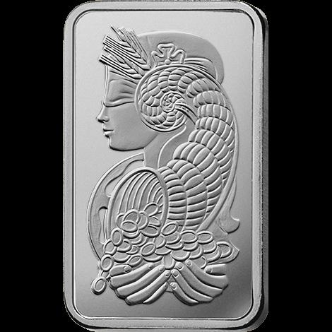 鈀金條塊正面。圖/臺灣銀行提供