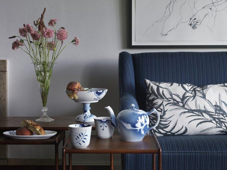 除了當一般餐瓷用之外,點亮居家氛圍,亦是最好的擺飾。圖/皇家哥本哈根提供