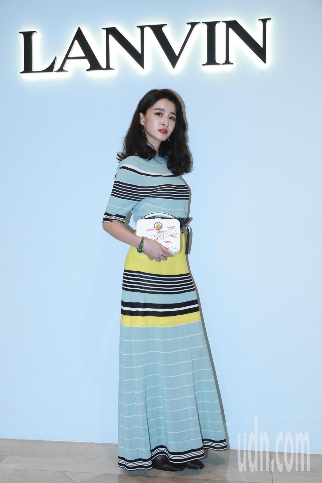 LANVIN台北信義新天地A9開設新櫃位,邀請網紅薛妞妞站台代言。