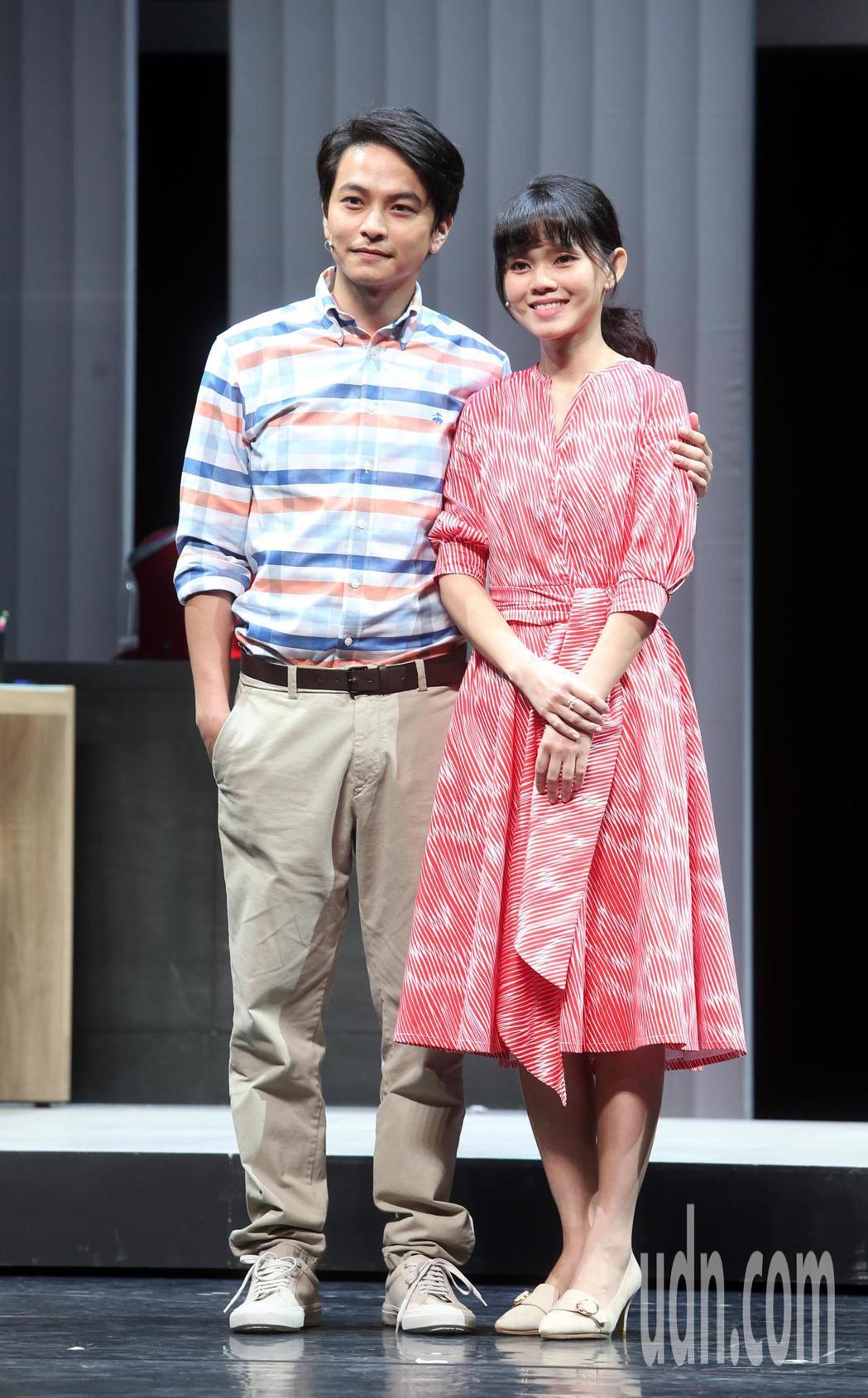 「我們與惡的距離」劇場版彩排,李劭婕(右)、楊銘威等人出席。記者曾吉松/攝影
