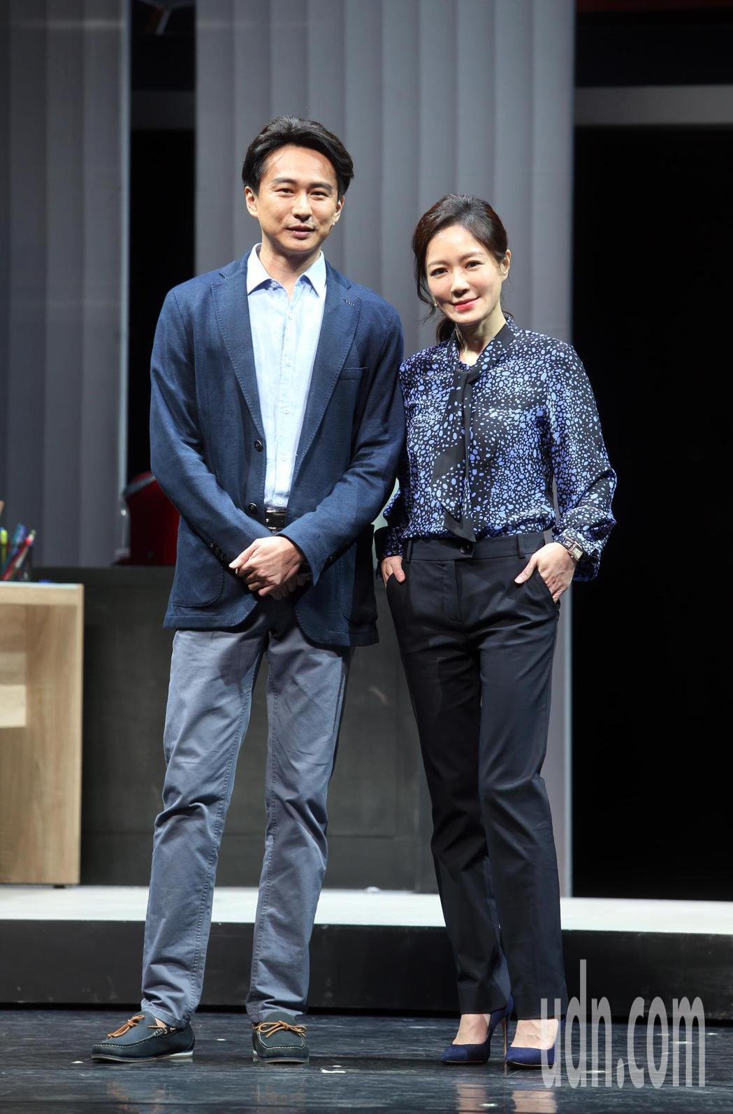 「我們與惡的距離」劇場版彩排,尹馨(右)、狄志杰(左)等人出席。記者曾吉松/攝影