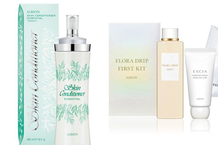 ALBION周年慶主打健康化妝水、白神之露。圖/ALBION提供