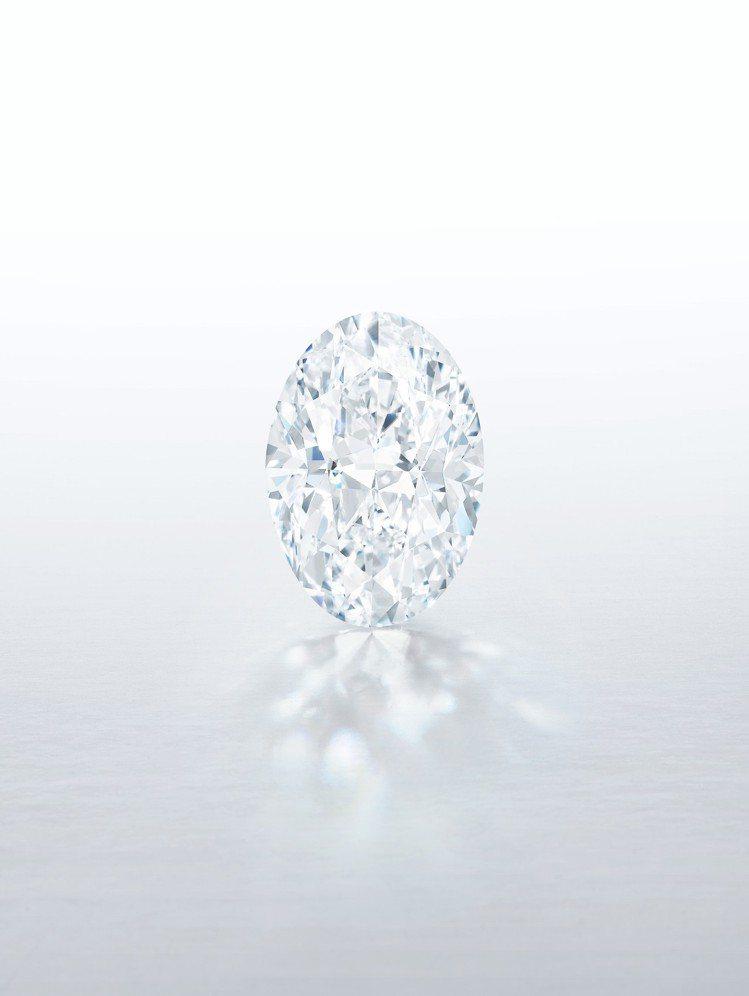 一枚逾100克拉的D色完美無瑕橢圓形巨鑽,將史無前例以「無底價」形式登上蘇富比香...