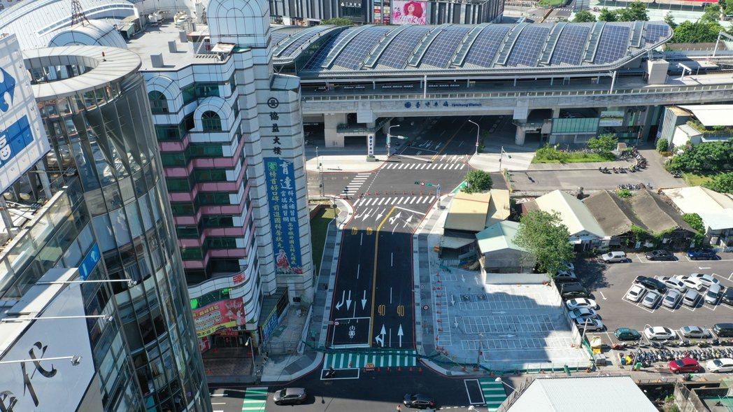 中市大智路打通長約56公尺、寬度20公尺,通車後成為聯繫台中火車站前後的重要動線...