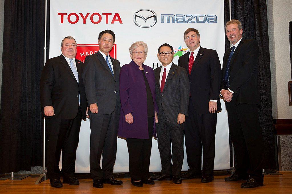 Mazda與Toyota汽車於美國阿拉巴馬州Huntsville的車輛生產基地投...