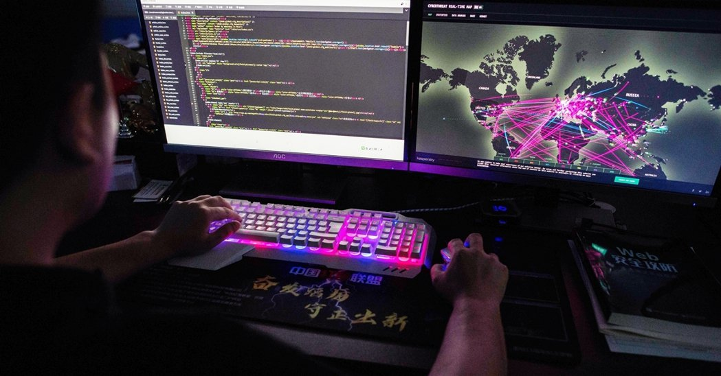 示意圖。圖為中國駭客團體「紅客聯盟」一名匿名為「王子」(Prince)的駭客。 ...