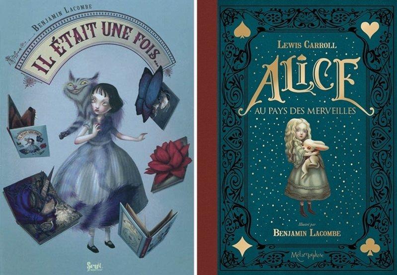 左:2010年法國Seuil出版社發行立體書《很久很久以前》;右:2015年法國Soleil出版社發行法文版《愛麗絲夢遊仙境》。 圖/童里繪本洋行