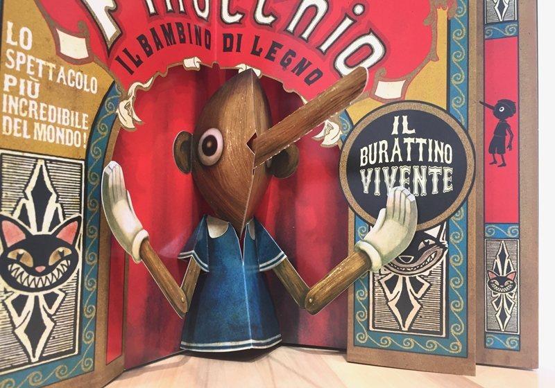 《很久很久以前》立體書裡的小木偶皮諾丘。 圖/童里繪本洋行