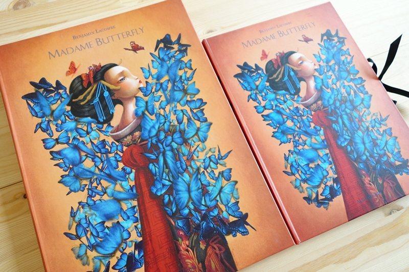2013年法國Albin Michel出版社發行普契尼歌劇《蝴蝶夫人》同名繪本。 圖/童里繪本洋行