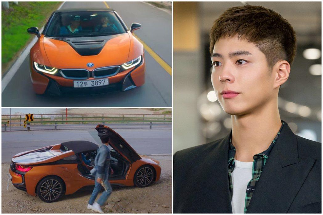 BMW i8 Roadster出現在《青春紀錄》第二集劇情中。 圖/截自Netf...
