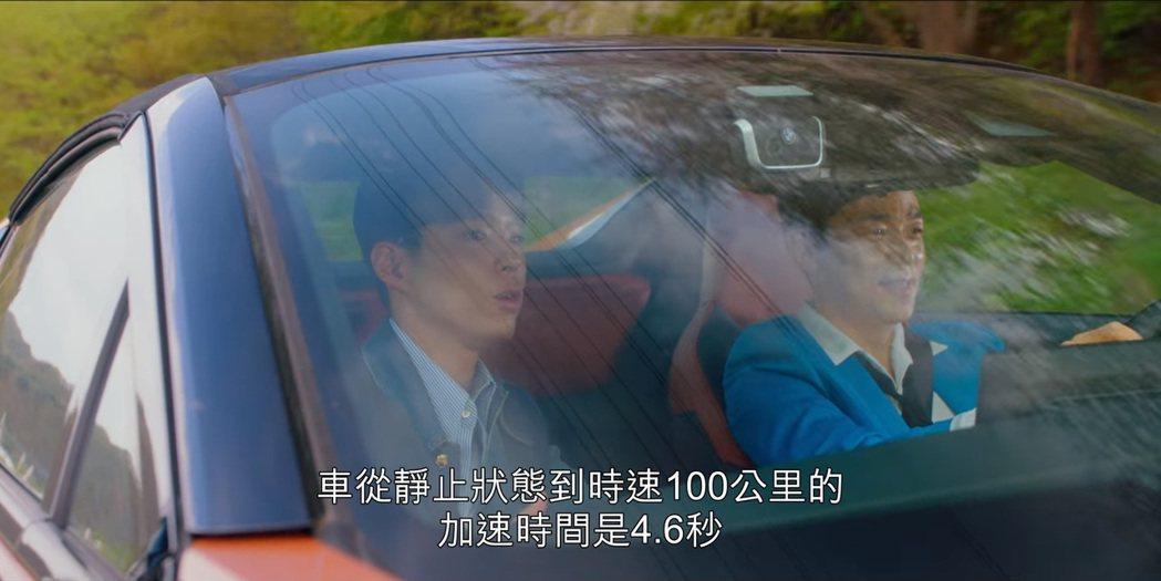 BMW i8 Roadster從靜止加速至100km/h只要4.6秒。沒錯,寶劍...