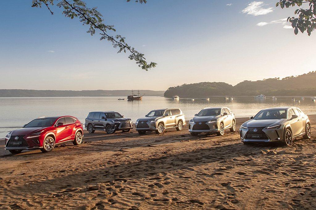 Lexus不斷拓展SUV陣容,也在全球迅速累積總銷售規模。 圖/Lexus提供