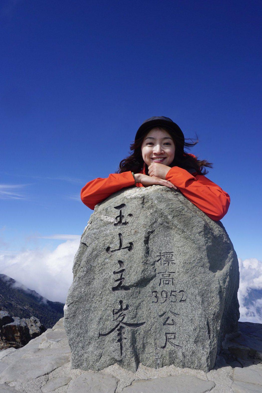 楊桃兒過去是不愛運動的超宅女,如今3年內挑戰57座百座。圖片由楊桃兒授權