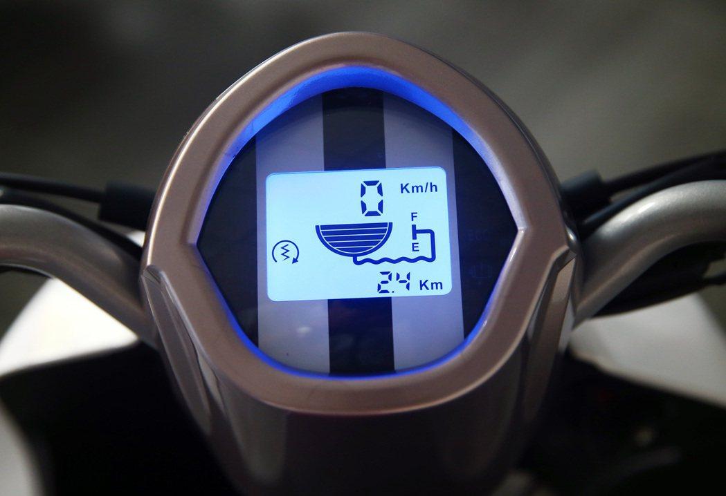 液晶顯示儀表。 記者杜建重/攝影