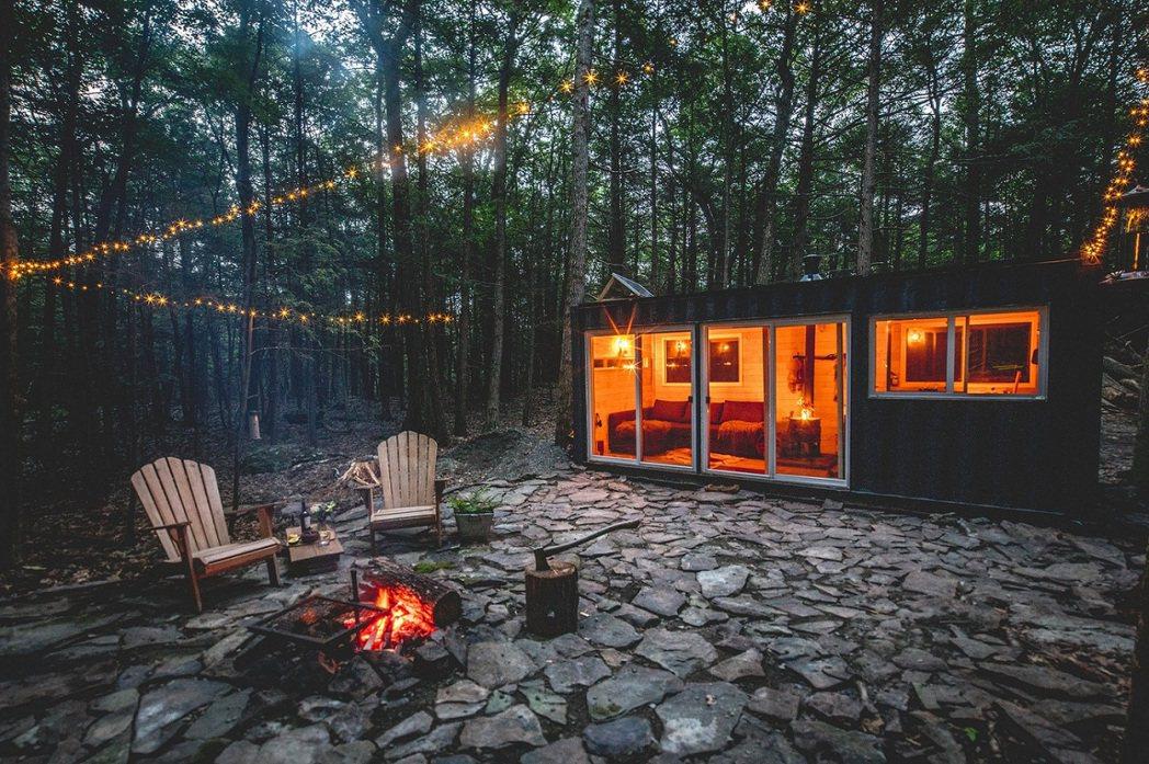 美國紐約州:星空貨櫃屋。 Airbnb /提供