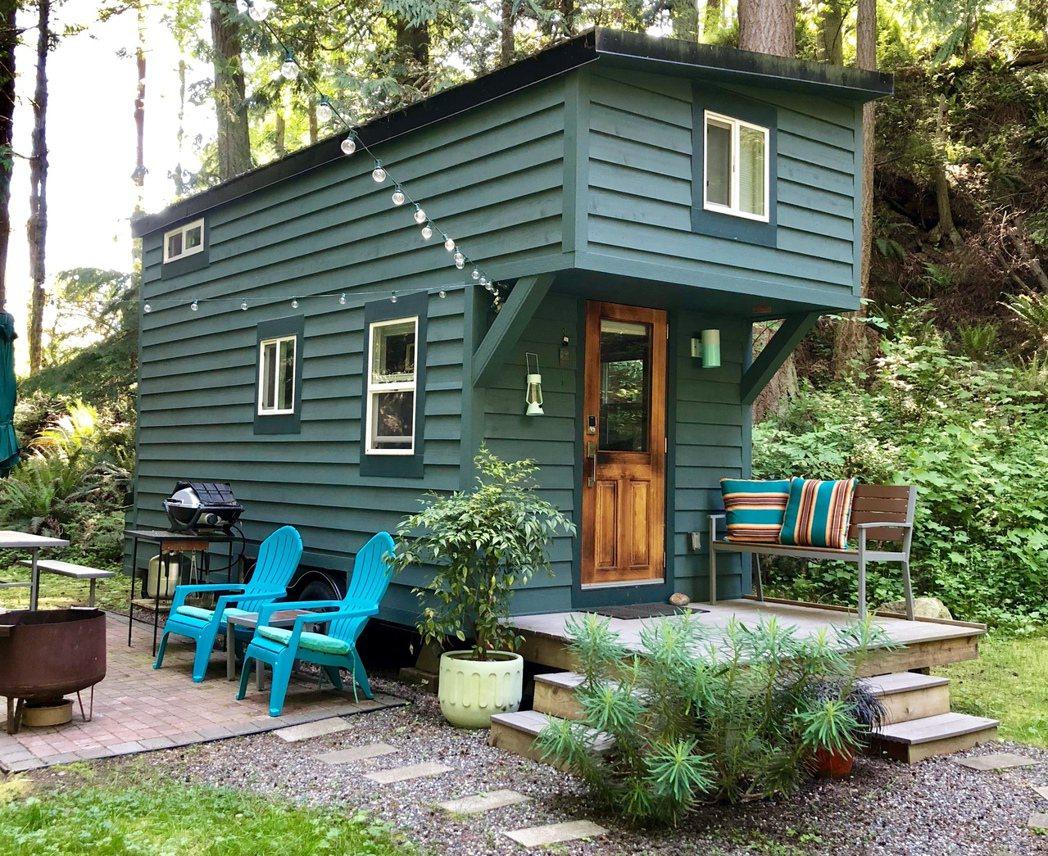 美國華盛頓州:湖水綠迷你屋。 Airbnb /提供