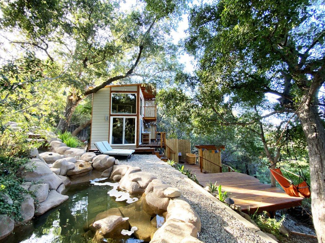 美國加州:山頂奢華樹屋。 Airbnb /提供