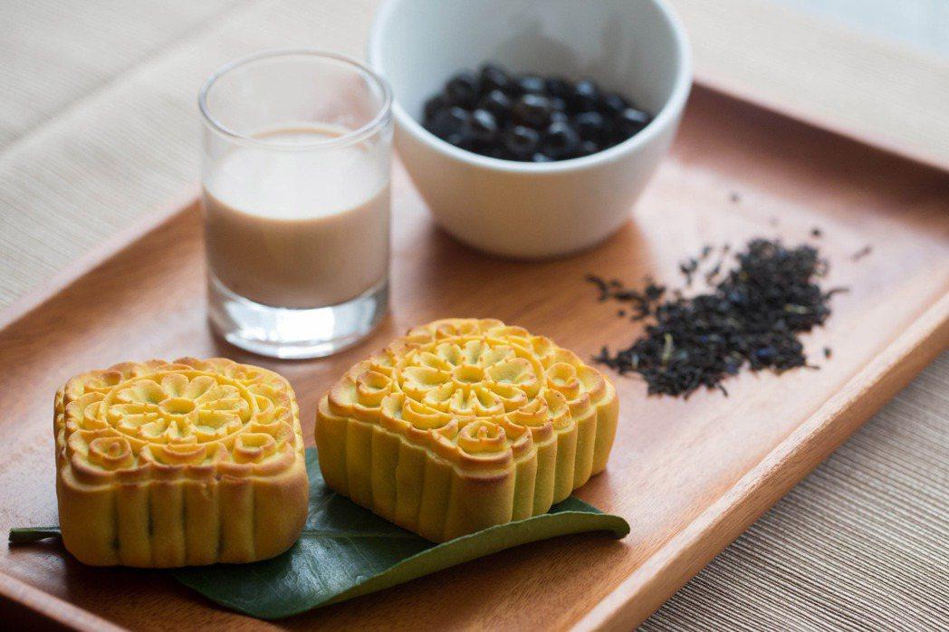 台北新版希爾頓酒店十分圓滿珍珠伯爵奶茶口味。台北新版希爾頓酒店/提供