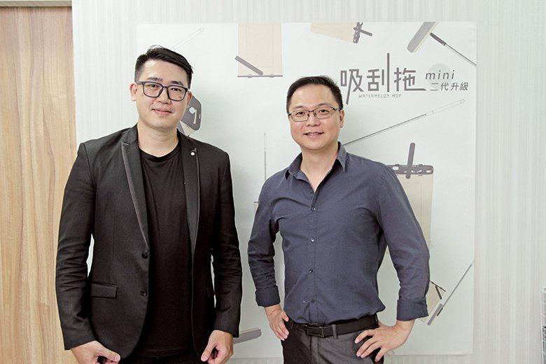 ▲佶之屋行銷總監傅培兆(左)、總經理張祐達(右)認為,群募是建立品牌很好的方式之一。吳長益攝影