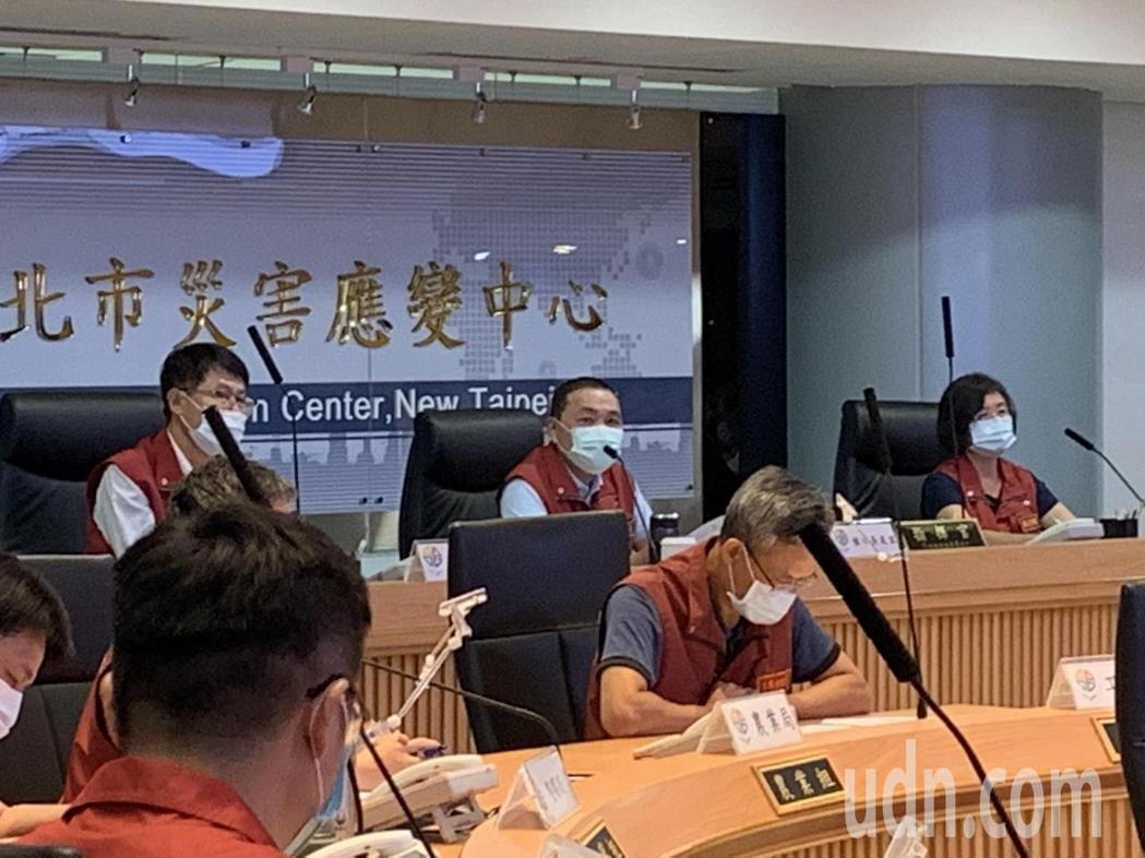 新北市長侯友宜今召開新冠肺炎防疫會議。記者魏翊庭/攝影