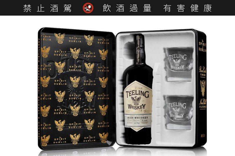 天頂都柏林復興名仕威士忌典藏禮盒。圖/橡木桶提供。提醒您:禁止酒駕 飲酒過量有礙健康。
