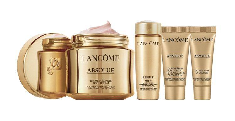 蘭蔻黃金玫瑰修護組:絕對完美黃金玫瑰修護乳霜60ML、絕對完美黃金玫瑰修護露15...