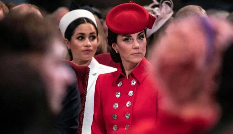 凱特(右)對梅根的心結,似乎連在公開場合都不掩飾。圖/路透資料照片