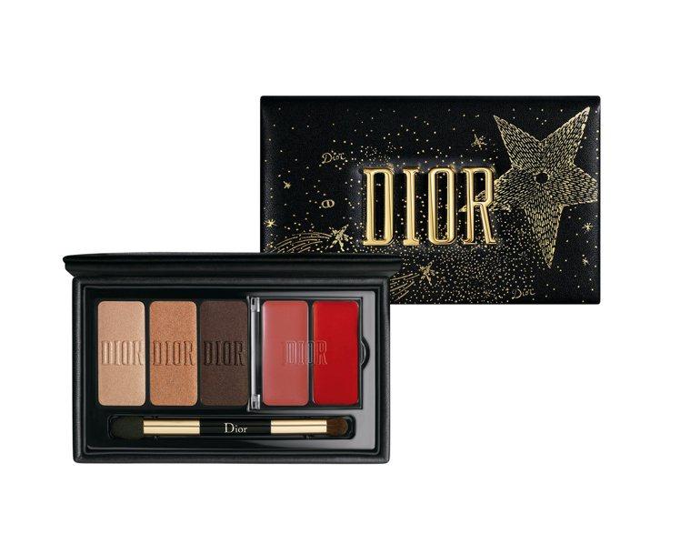 迪奧銀河星願訂製眼唇妝盤/售價2,550元。圖/迪奧提供