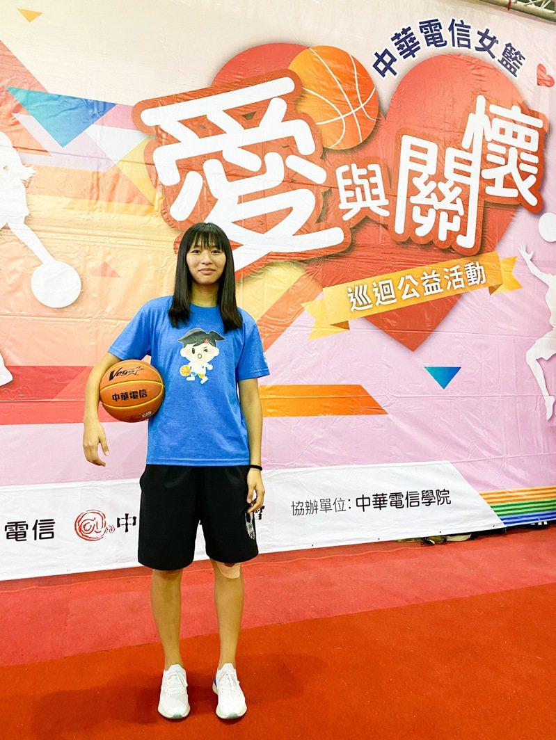 林玉書是電信女籃唯一來自新竹的球員。記者曾思儒/攝影