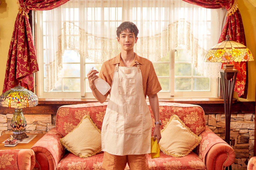 劉以豪在新歌「U」MV中化身愛家暖男。圖/何樂提供