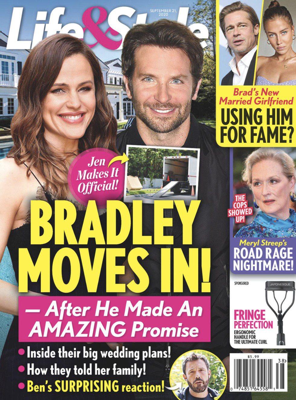 珍妮佛嘉納與布萊德利庫柏被傳已同居,布萊德利甚至計畫求婚。圖/摘自Life & ...