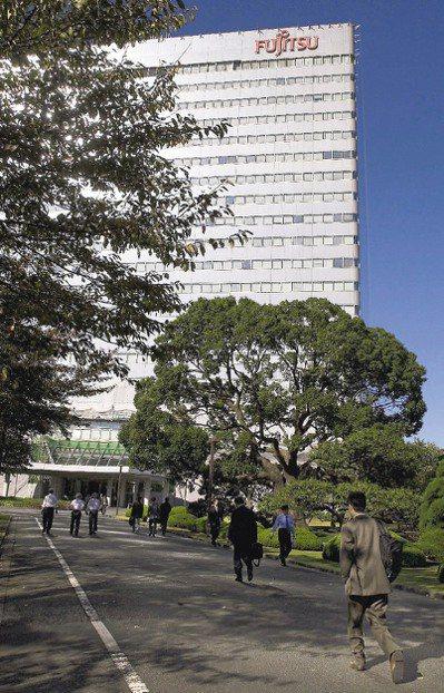 川崎市的富士通總部大樓 (彭博資訊)
