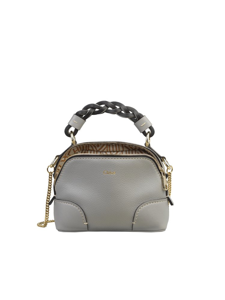 Chloé Daria灰藍色迷你肩背手提兩用包,47,300元。圖/Chloé提...