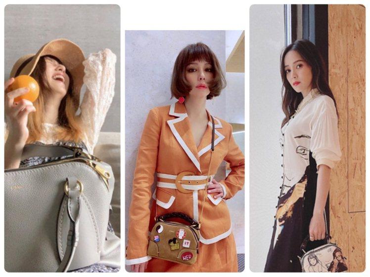 柯佳嬿、徐若瑄、侯佩岑選搭Chloé的Daria系列包款。圖/取自IG