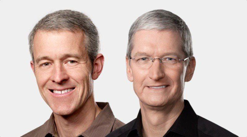 蘋果營運長威廉斯(左),成為庫克接班人的呼聲最高。圖/網路圖片