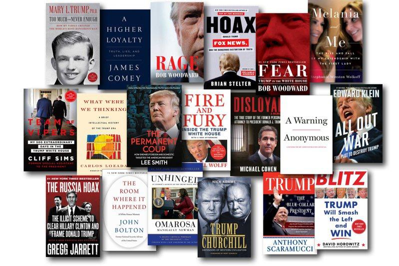 川普成了政治書籍的推手,跟他有關的書數量特多,銷路亦佳。(紐約時報)