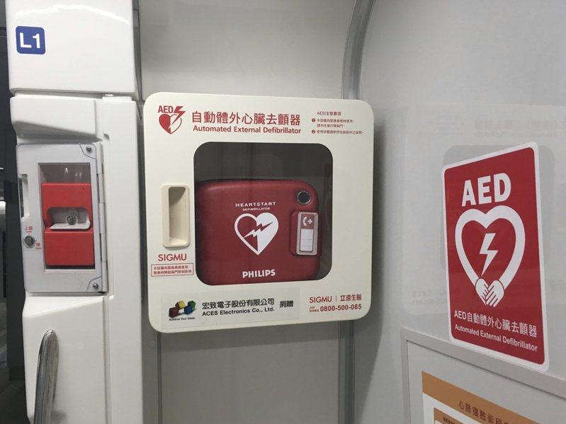各地設置AED,但會用的人卻不多。 圖/聯合報系資料照片