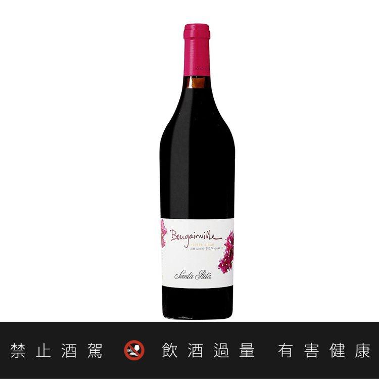 智利聖大力布根維爾小希哈紅葡萄酒2017,建議售價2,900元。圖/聖大力提供。...