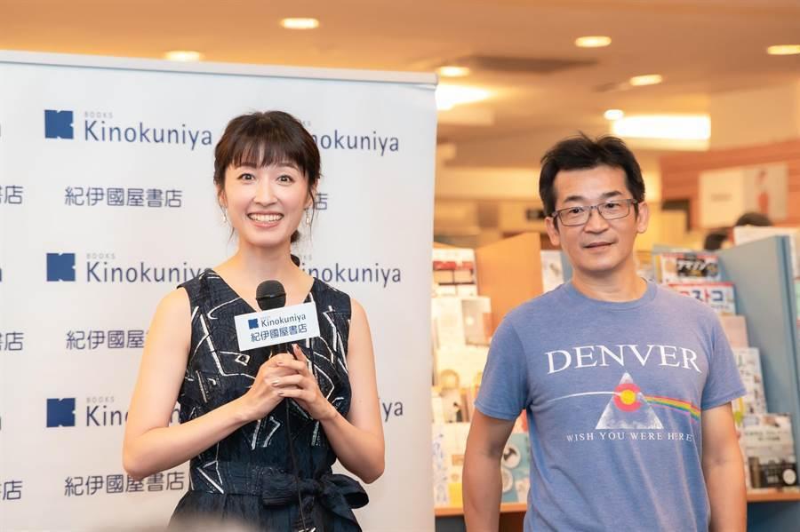 田中千繪辦新書分享會,魏德聖導演現身力挺。圖/雅慕斯娛樂提供