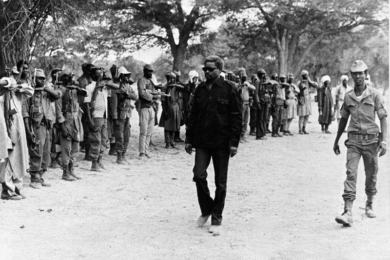 查德前總統海珊・哈布雷,攝於1981年。 圖/法新社