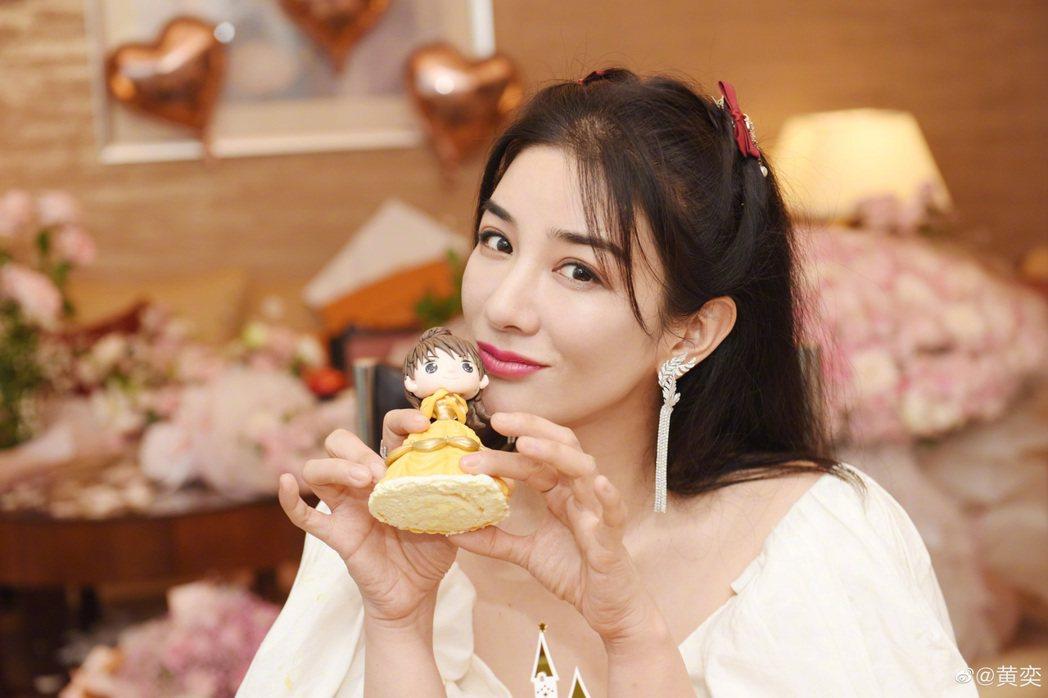 曾演出「還珠格格」小燕子的女星黃奕已邁入43歲。圖/擷自微博