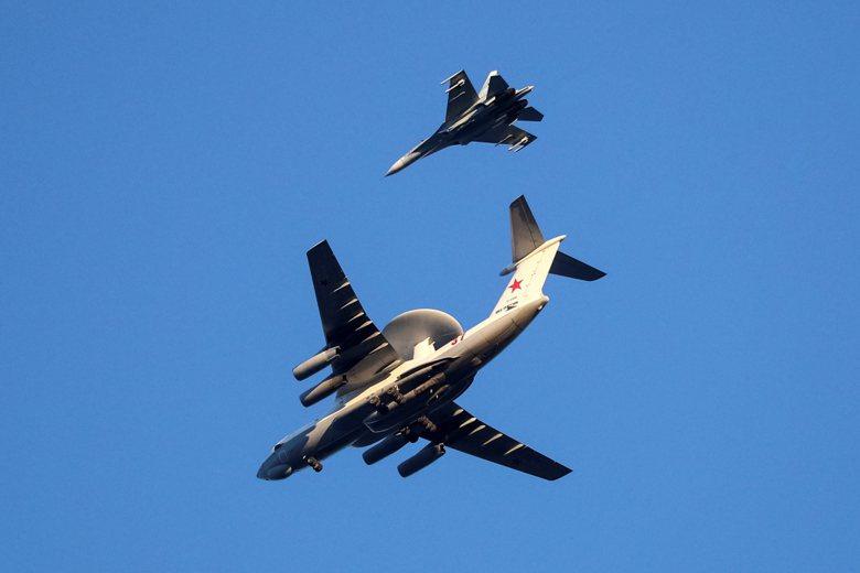 俄羅斯A-50空中預警機。 圖/路透社
