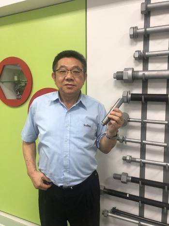 恒耀董事長吳榮彬說,全力維護員工穩定的工作環境。 記者林政鋒/攝影