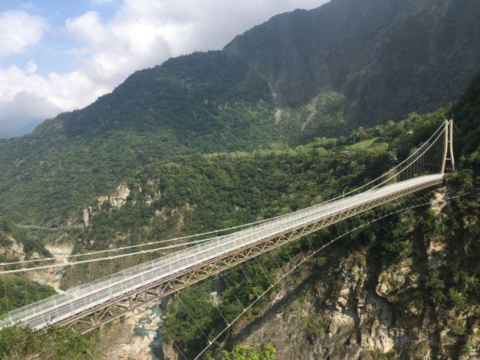 花蓮山月吊橋。 圖/太魯閣國家公園管理處