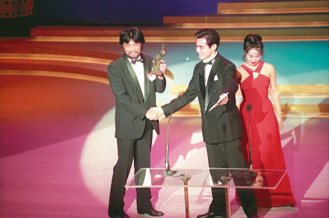 李屏賓(左)1993年以《戲夢人生》拿下第一座金馬獎最佳攝影。圖/聯合報系資料照...